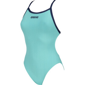 arena Solid Light Tech High One Piece Swimsuit Dames, mint/navy